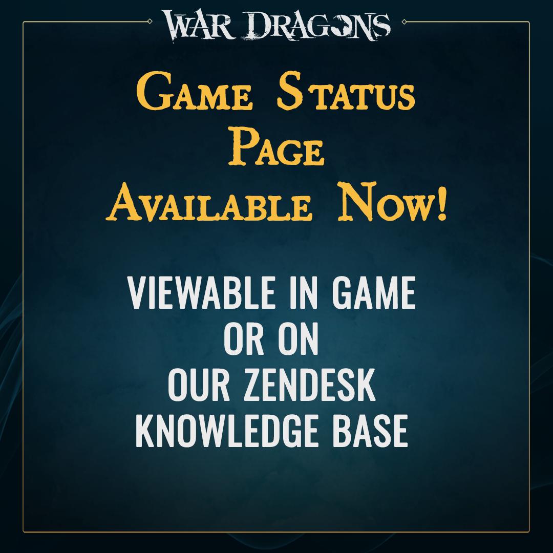 War Dragons - Game Status