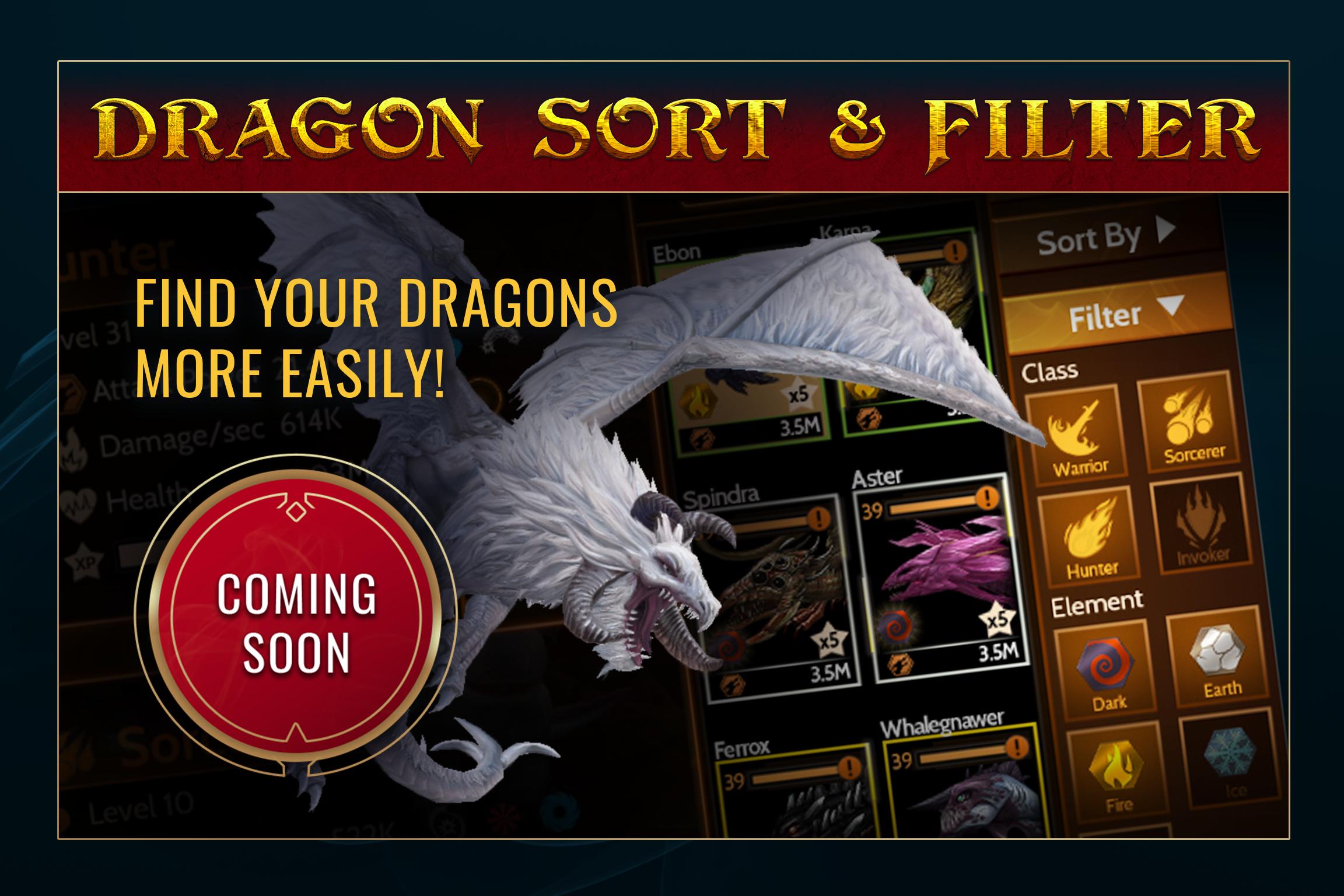 War Dragons - Dragon Sort & Filter